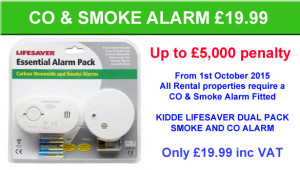 CO AND SMOKE ALARM PACK for only £19.99