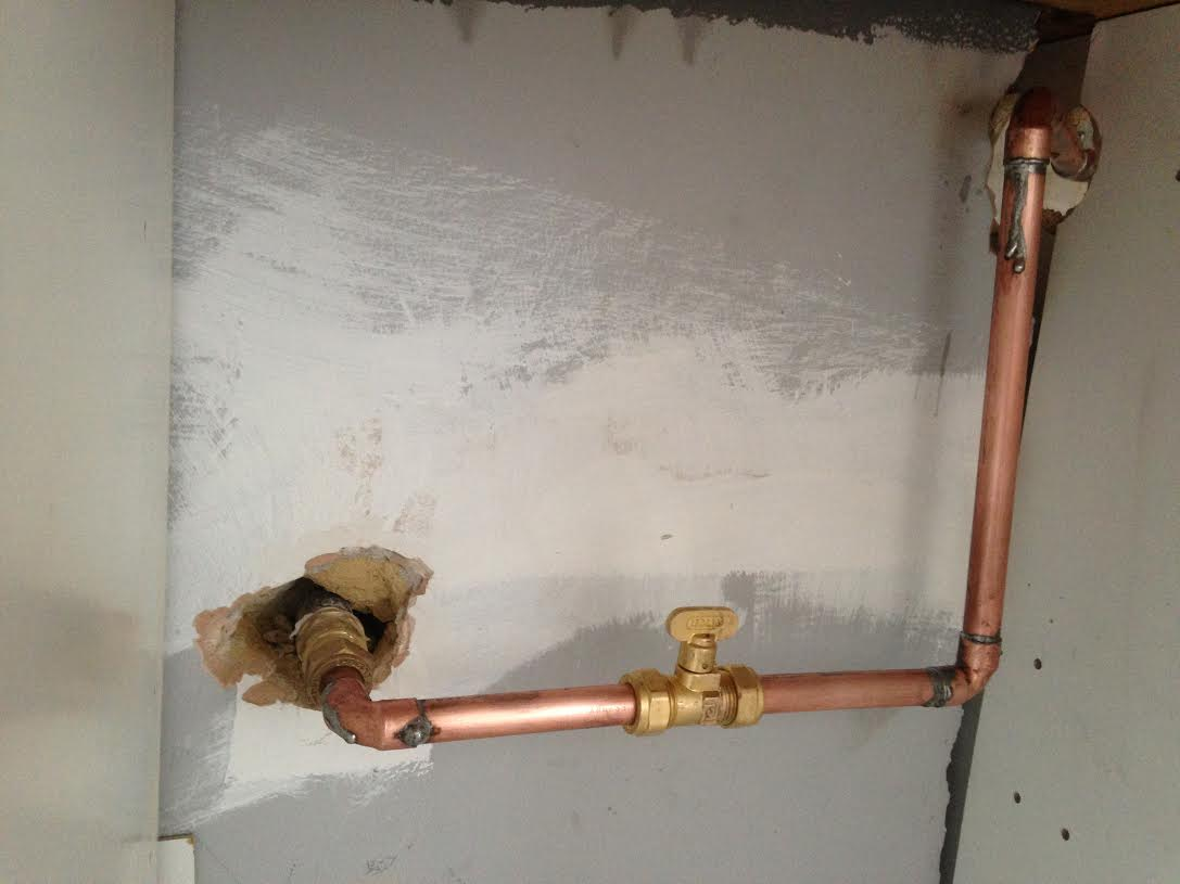 Gas Hob Install Pipework ...